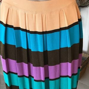 Missoni Sport Pleated Skirt  Vibrant  Colors  S